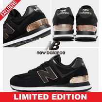 New Balance 574 Blended Fabrics Street Style Low-Top Sneakers