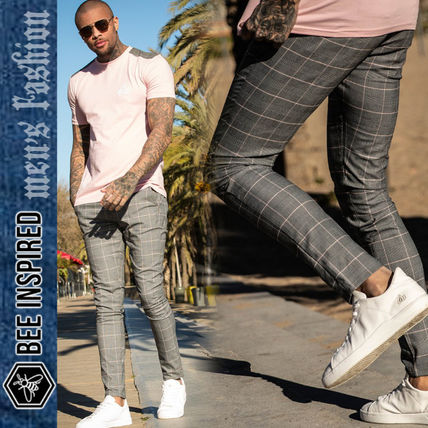 ee686f91a Bee Inspired Clothing 2019 SS Other Check Patterns Street Style Skinny Fit  Pants
