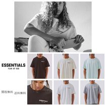 FEAR OF GOD ESSENTIALS Unisex Street Style Short Sleeves Oversized T-Shirts
