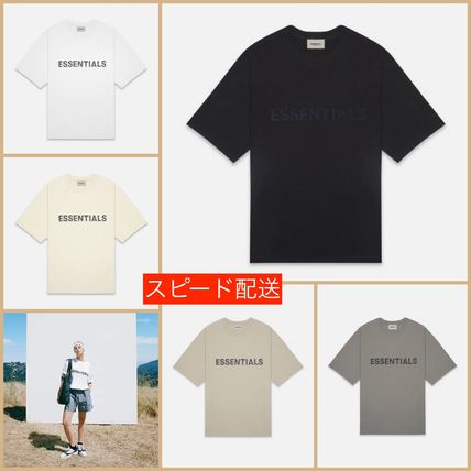 FEAR OF GOD ESSENTIALS Unisex Street Style Short Sleeves Oversized Logo T-Shirt