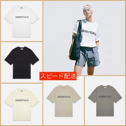 FEAR OF GOD More T-Shirts Unisex Street Style Short Sleeves Oversized Logo T-Shirt 18