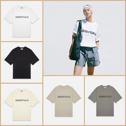 FEAR OF GOD More T-Shirts Unisex Street Style Short Sleeves Oversized Logo T-Shirt 19