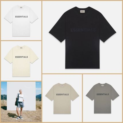 FEAR OF GOD More T-Shirts Unisex Street Style Short Sleeves Oversized Logo T-Shirt 20