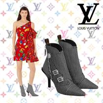 Louis Vuitton Stripes Pin Heels Ankle & Booties Boots