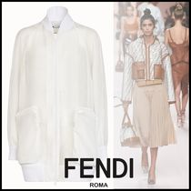 FENDI Plain Medium Elegant Style Jackets