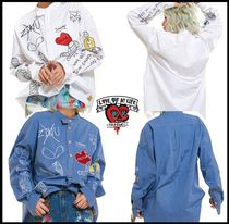 Man G Casual Style Street Style Shirts & Blouses