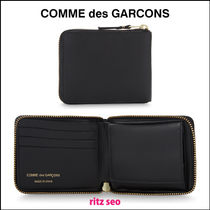 COMME des GARCONS Plain Leather Folding Wallets