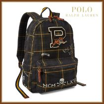 Ralph Lauren Stripes Unisex Canvas Street Style A4 2WAY Backpacks