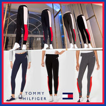 Tommy Hilfiger Stripes Street Style Bi-color Cotton Leggings Pants