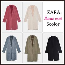 ZARA Suede Plain Long Coats