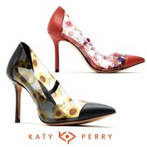 Katy Perry Tropical Patterns Casual Style Blended Fabrics Pin Heels