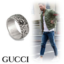 GUCCI Unisex Street Style Other Animal Patterns Silver Rings