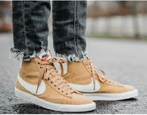 Nike BLAZER Rubber Sole Lace-up Casual Style Unisex Suede Plain