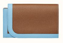HERMES Calfskin Plain Handmade Long Wallets
