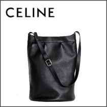 CELINE Lambskin Blended Fabrics Plain Messenger & Shoulder Bags