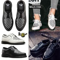 Dr Martens Other Check Patterns Rubber Sole Casual Style Unisex Studded