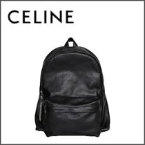 CELINE Calfskin Blended Fabrics A4 Chain Plain Backpacks