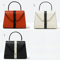 Valextra Iside Casual Style Calfskin 2WAY Plain Shoulder Bags