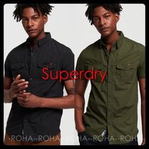 Superdry Camouflage Street Style Logos on the Sleeves Shirts