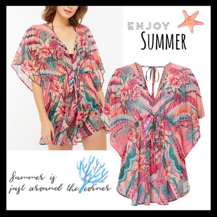 Flower Patterns Tassel Beachwear