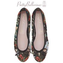 Pretty Ballerinas Flower Patterns Ballet Shoes