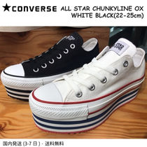 CONVERSE ALL STAR Stripes Casual Style Street Style Plain Chunky Heels