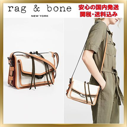 Casual Style Canvas Plain Crossbody Shoulder Bags