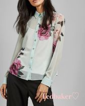 TED BAKER Flower Patterns Long Sleeves Elegant Style Shirts & Blouses