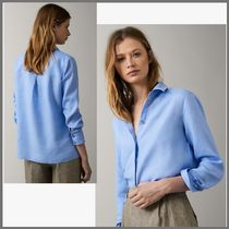 Massimo Dutti Linen Medium Puff Sleeves Shirts & Blouses