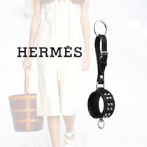 HERMES Collier de Chien Calfskin Studded Keychains & Bag Charms