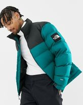 THE NORTH FACE Nuptse Short Unisex Street Style Plain Oversized Down Jackets