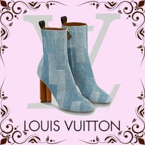 Louis Vuitton MONOGRAM Casual Style Block Heels Ankle & Booties Boots