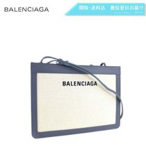 BALENCIAGA CABAS 2WAY Plain Elegant Style Shoulder Bags
