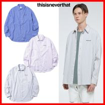 thisisneverthat Casual Style Unisex Street Style Cotton Shirts & Blouses
