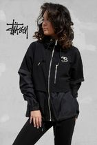 STUSSY Casual Style Unisex Plain Outerwear