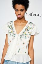 Sfera Flower Patterns Elegant Style Shirts & Blouses