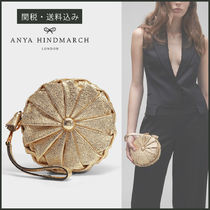 Anya Hindmarch Calfskin Plain Party Style Fringes Clutches