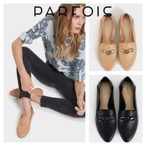 PARFOIS Platform Faux Fur Plain Office Style Loafer Pumps & Mules