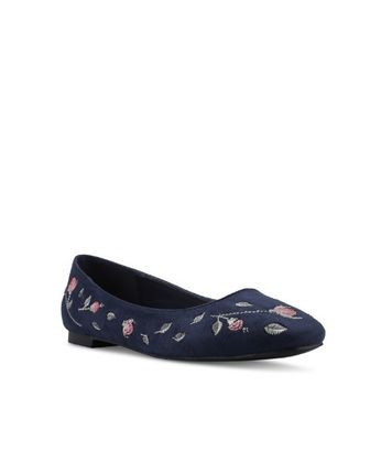 Flower Patterns Wedge Round Toe Office Style