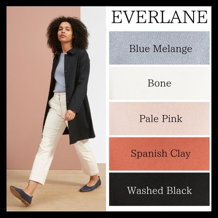 Casual Style Long Sleeves Plain Cotton Sweaters