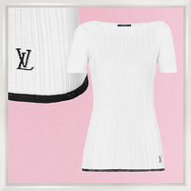 Louis Vuitton Short Wool Boat Neck Plain Short Sleeves Cropped