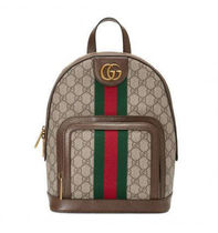 GUCCI Ophidia Monogram Casual Style Canvas Blended Fabrics Backpacks