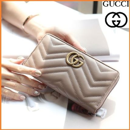 c241087c9527 GUCCI GG Marmont 2019 SS Leather Long Wallets (443123 DTD1T 5729) by ...