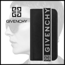 GIVENCHY Unisex Bi-color Leather Smart Phone Cases