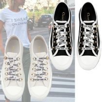 Christian Dior Plain Toe Casual Style Unisex Low-Top Sneakers