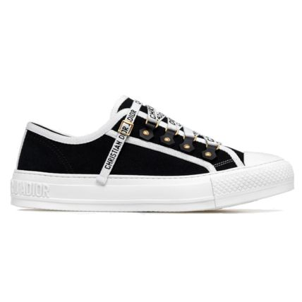 Christian Dior Logo Plain Toe Casual Style Unisex Low-Top Sneakers