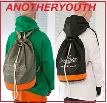 ANOTHERYOUTH Unisex Street Style Backpacks