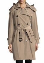Burberry Tartan Casual Style Plain Long Coats