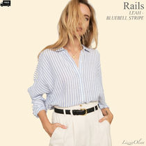 Ron Herman Stripes Casual Style Linen Long Sleeves Medium Handmade