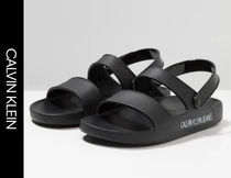 Calvin Klein CALVIN KLEIN JEANS Street Style Shower Shoes Shower Sandals